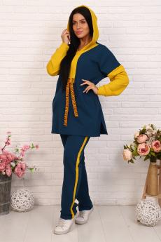 Женский спортивный костюм с удлиненной толстовкой Натали