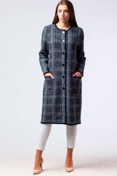 Новинка: трикотажное пальто на пуговицах Kvinto