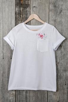 Белая футболка с карманом Милана